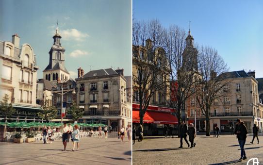 Place d'Erlon à 3 époques et l'église Saint-Jacques