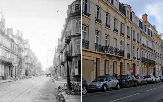 Rue Thiers pendant la guerre 1914-1918