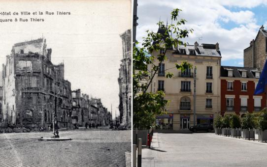 Place de l'Hôtel de Ville et la rue Thiers
