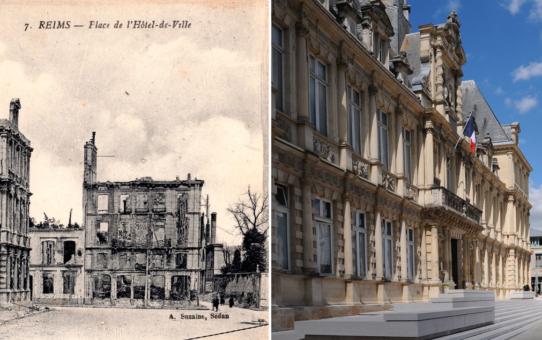 Place de l'Hôtel de Ville 3 époques