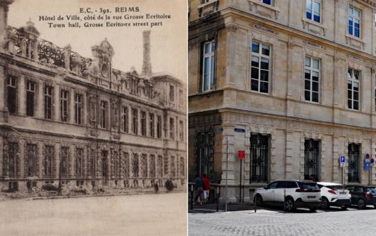 L'Hôtel de Ville et la rue de la Grosse Écritoire, trois époques