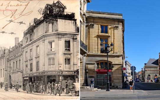 La rue Chanzy vue de la place du Théâtre, actuelle place Myron Herrick