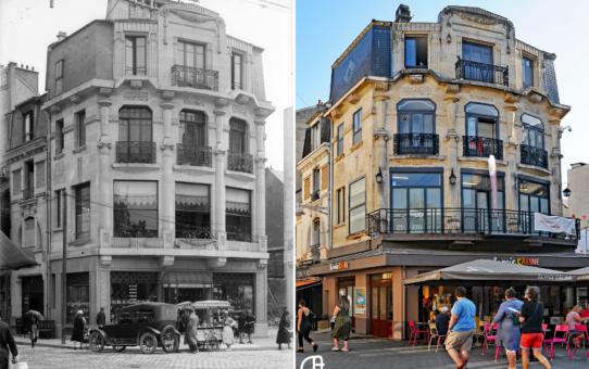 Place d'Erlon, angle de la rue Théodore Dubois et de la rue Marx Dormoy