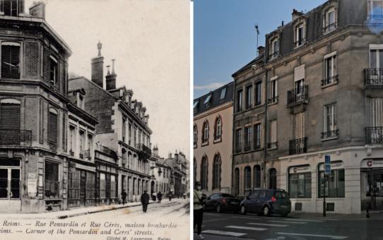 Angle de la rue Cérès et de la rue Ponsardin en 1914-15
