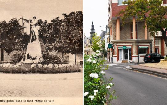 La place Léon Bourgeois et le Poilu