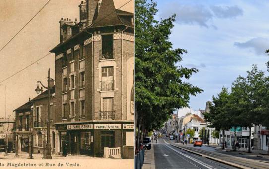 Place de la Magdelaine et la rue de Vesle (actuelle place Stalingrad)